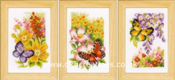 Butterflies And Flowers Cross Stitch Kit